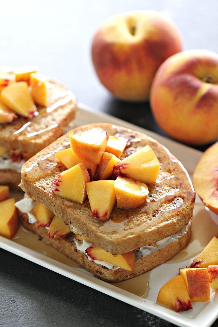 Peaches and Cream French Toast Recipe from Six Sisters' Stuff is a delicious, go-to breakfast or brunch idea. Throw some fresh peaces on there and you have a perfect summer treat!