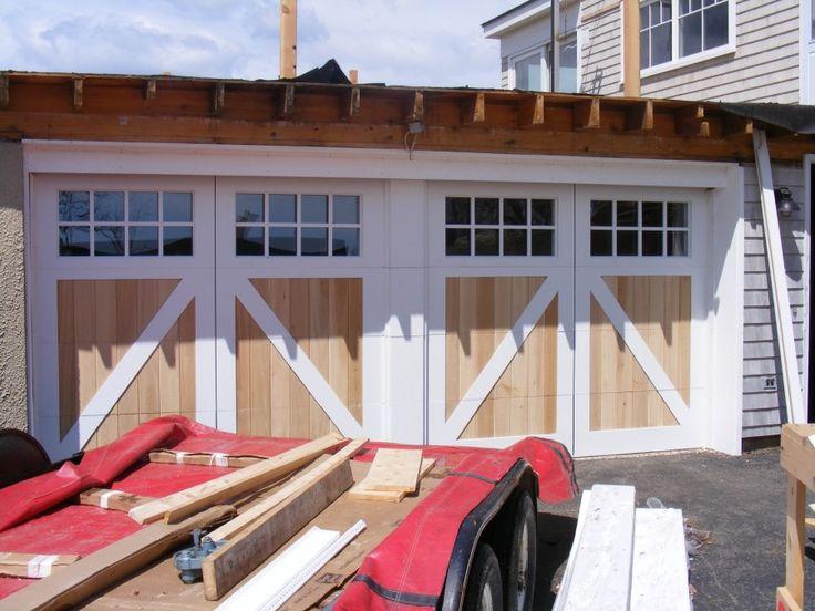 double garage door that looks like two doors | Before - This single, double wide door was the original garage door ...