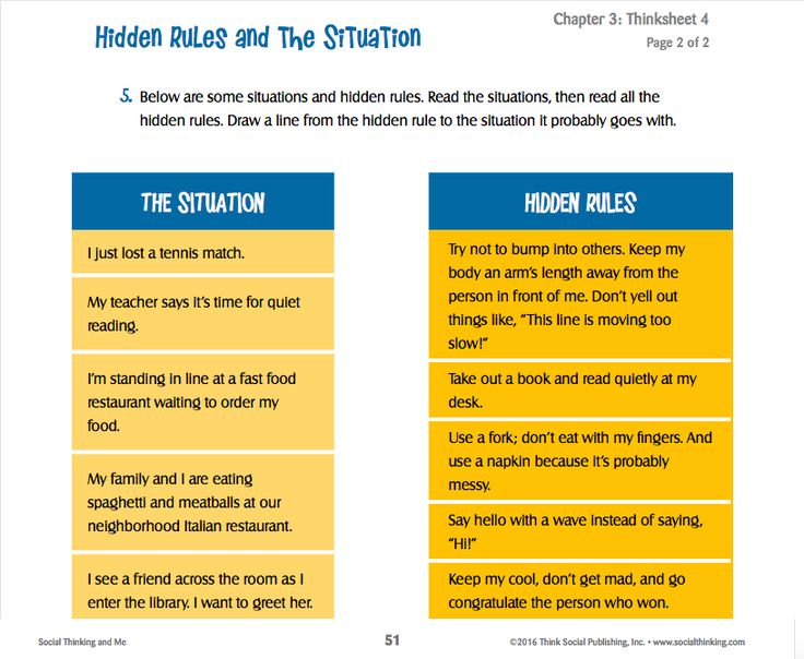 Printables Social Thinking Worksheets 1000 images about free thinksheets worksheets on pinterest hidden rules and the situation from social thinking me thinksheets