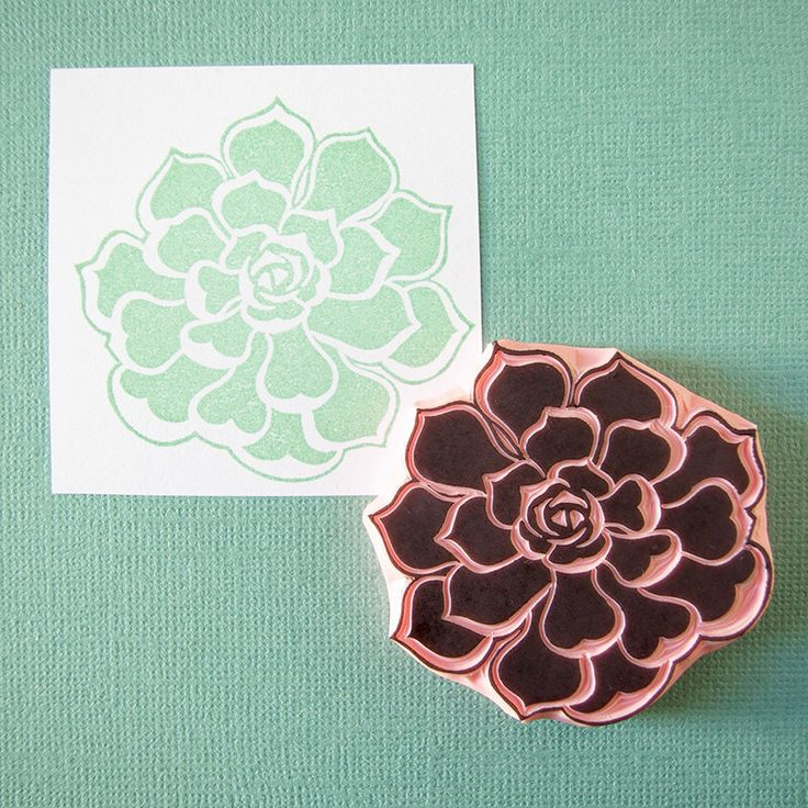 Echeveria succulent, plant rubber stamp, hand carved, succulent cactus decor, wedding invitation idea by CassaStamps on Etsy https://www.etsy.com/listing/190231176/echeveria-succulent-plant-rubber-stamp