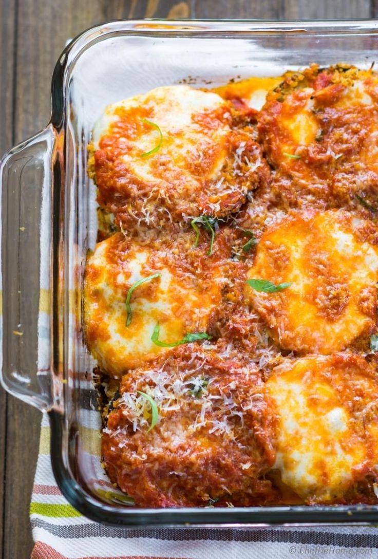 Vegetarian Eggplant Parmesan Lasagna Chefdehome Com Eggplant Parmesan Food Recipes