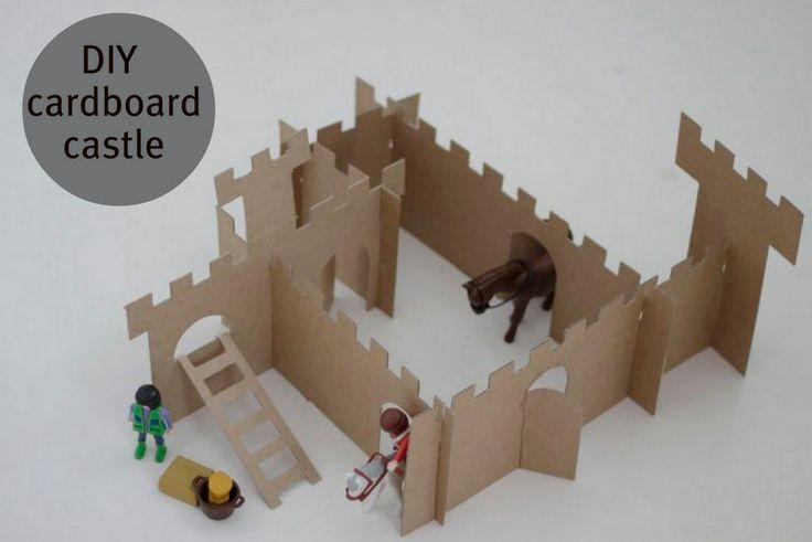simple cardboard castle
