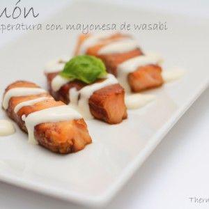 Vista previa del artículo Salmón a baja temperatura con mayonesa de wasabi