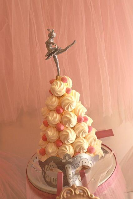 Meringue tree at a Ballerina Party #ballerina #partyfood