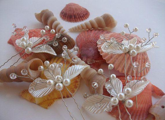 Wedding Hair Pins Bridal Hair Pins Pearl Hair by DesignByIrenne