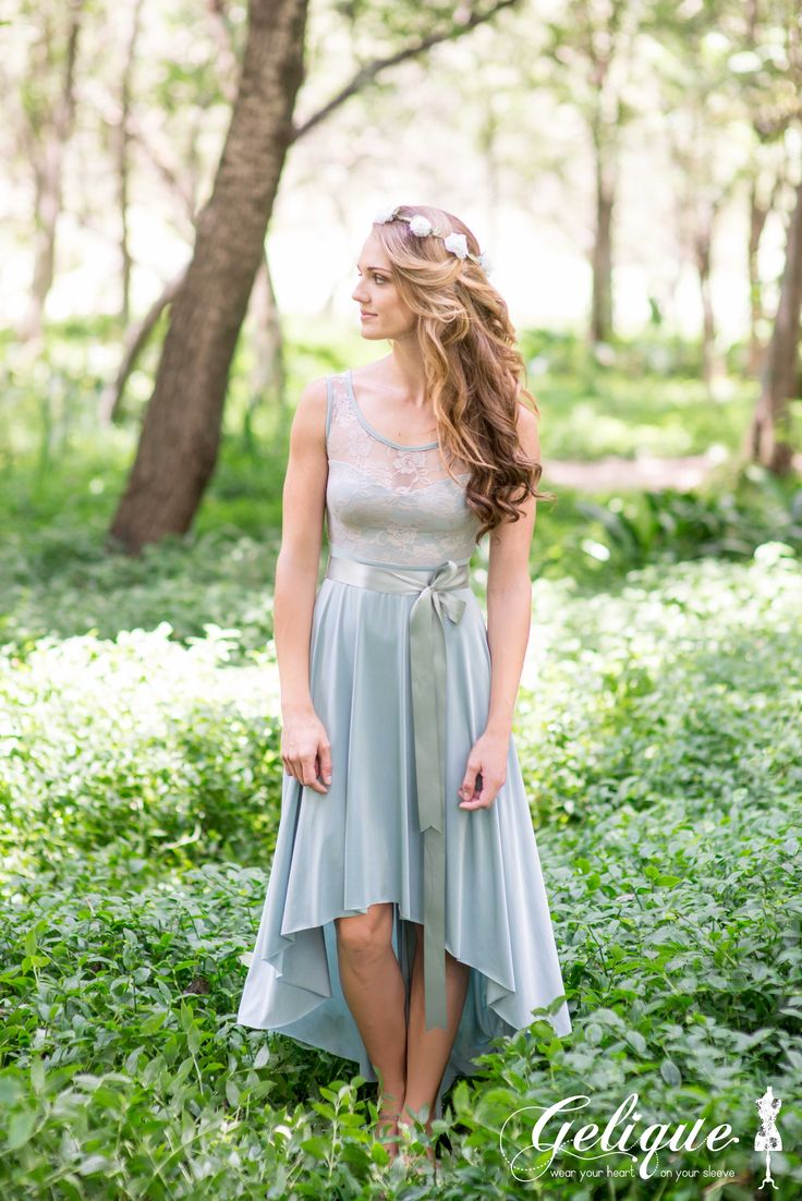 The Mullet cut skirt is a lovely option for a Semi Formal Wedding. The skirt is long at the back and shorter in front. It can also be matched with most of our dresses.