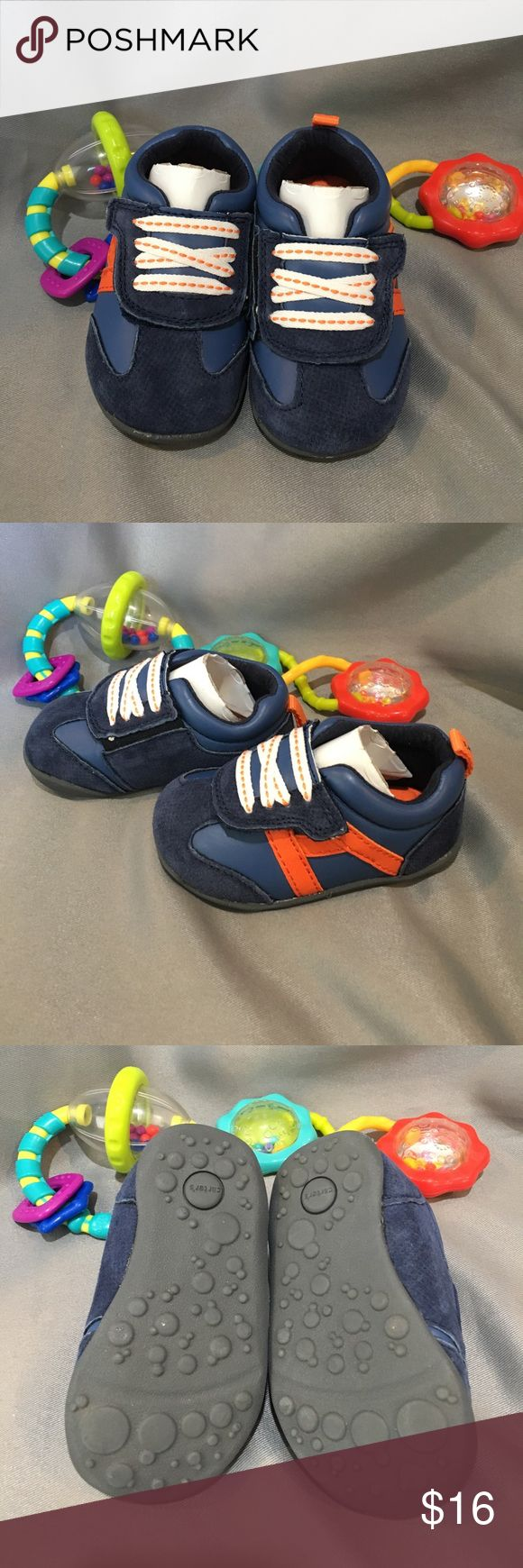 NWT/NIB Carter's Oldie-BW Baby Shoes NWT/NIB Carter's Oldie-BW Baby Shoes. Great for a crawler, stander or walker!  Leather Upper, Velcro to open. Orange and Blue. Carter's Shoes Baby & Walker