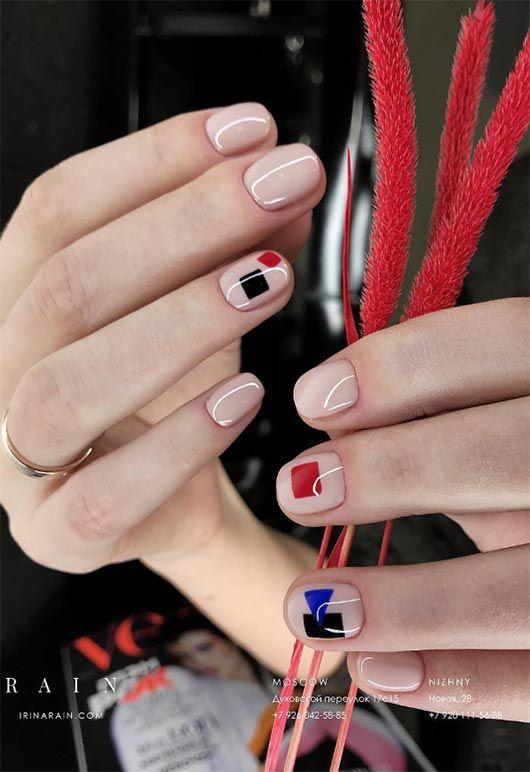65 beeindruckende Nail Art Designs für kurze Nägel – Fingers & Toes –