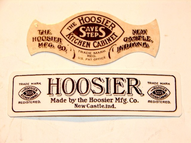 Labels For Original Hoosier Kitchen Cabinets Made In New Castle, Indiana