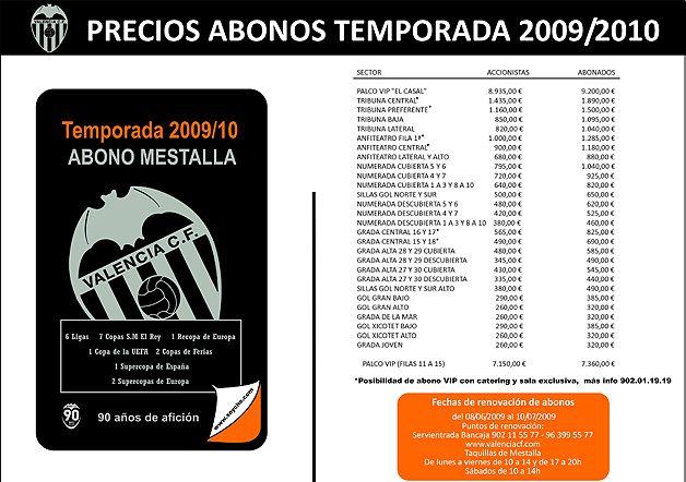 Campaña de abonos 2009/10 - Página web oficial Valencia CF