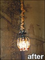 Chandelier chain covers, ceiling fans, lamps, etc. silk, linen, velvet, cotton twill, all sorts of colors