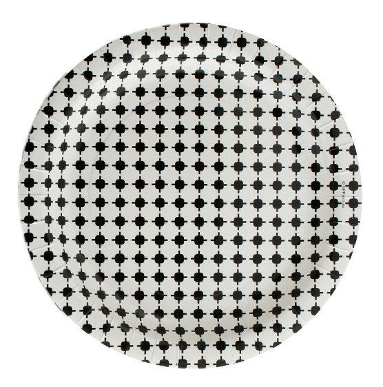 23cm Plates – Black Geo.  Available at www.theprettybaker.co.nz
