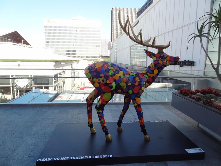 Artist - Couto Bros.  Currently on display at the Century City shopping center (an outdoor shopping mall here in LA) is The Reindeer Project: a curated selection of twelve local artists who have transformed a blank reindeer statue into a unique piece of art. The reindeer displays are showcased thorough out the shopping center and being auctioned to benefit Inner-City Arts, a non-profit devoted to bringing arts education back to students in the public school system.