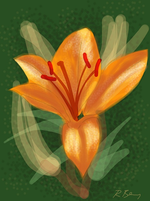 Asiatic Lily by BrushesApp.