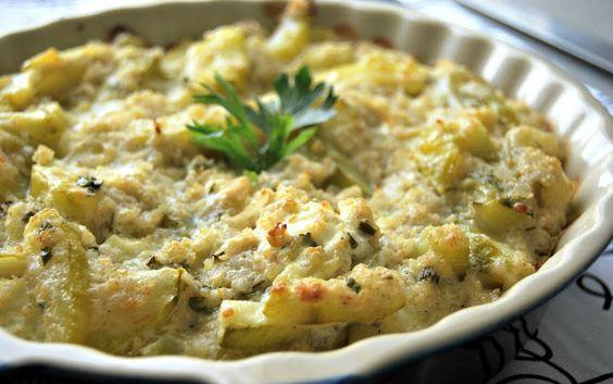 Gratin de courgettes, quinoa & thon au curcuma (IG bas)