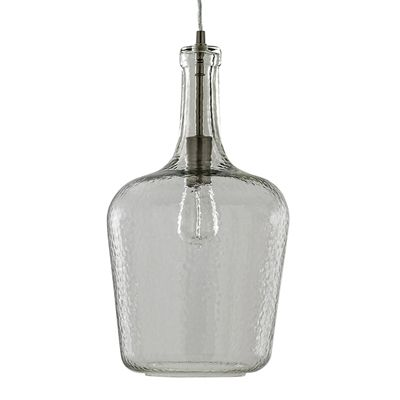 allen + roth 9.88-in 1 Light Vintage Bottle Glass Pendant