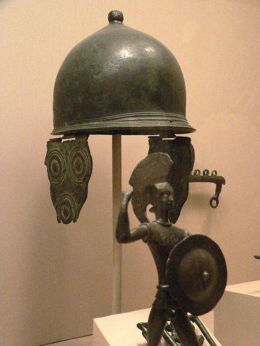 Etruscan Montefortino type helmet, 4th-3rd century BCE