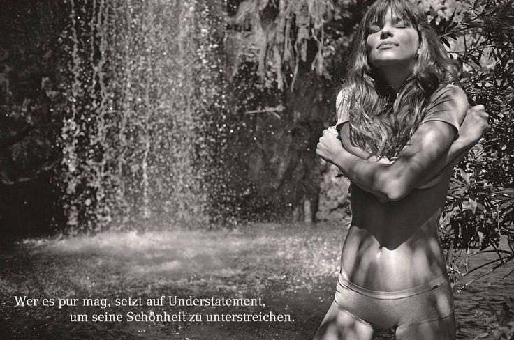 """Naturschönheit: """"Wer es pur mag, setzt auf Understatement, um seine Schönheit zu unterstreichen."""" Natürliche Baumwolle, klare Linien und kleine, aber feine Details... #lessismore #bodywear"""