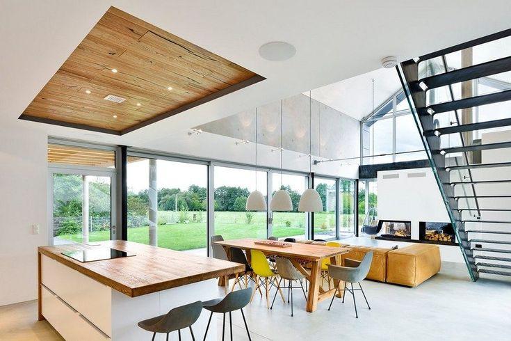 Moderne nurnberg haus mit offenem wohnbereich kamin und for Innenarchitektur nurnberg