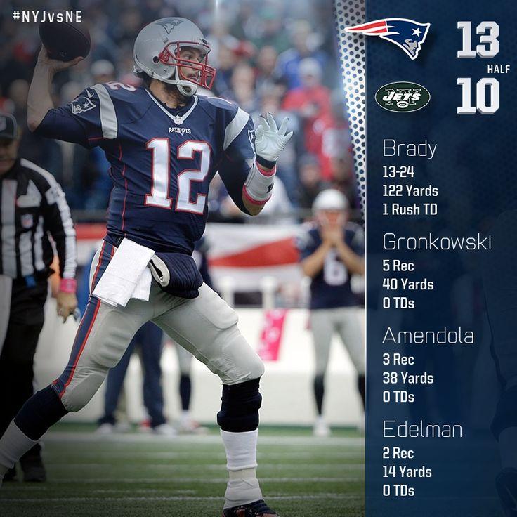 Patriots stats leaders at the half.
