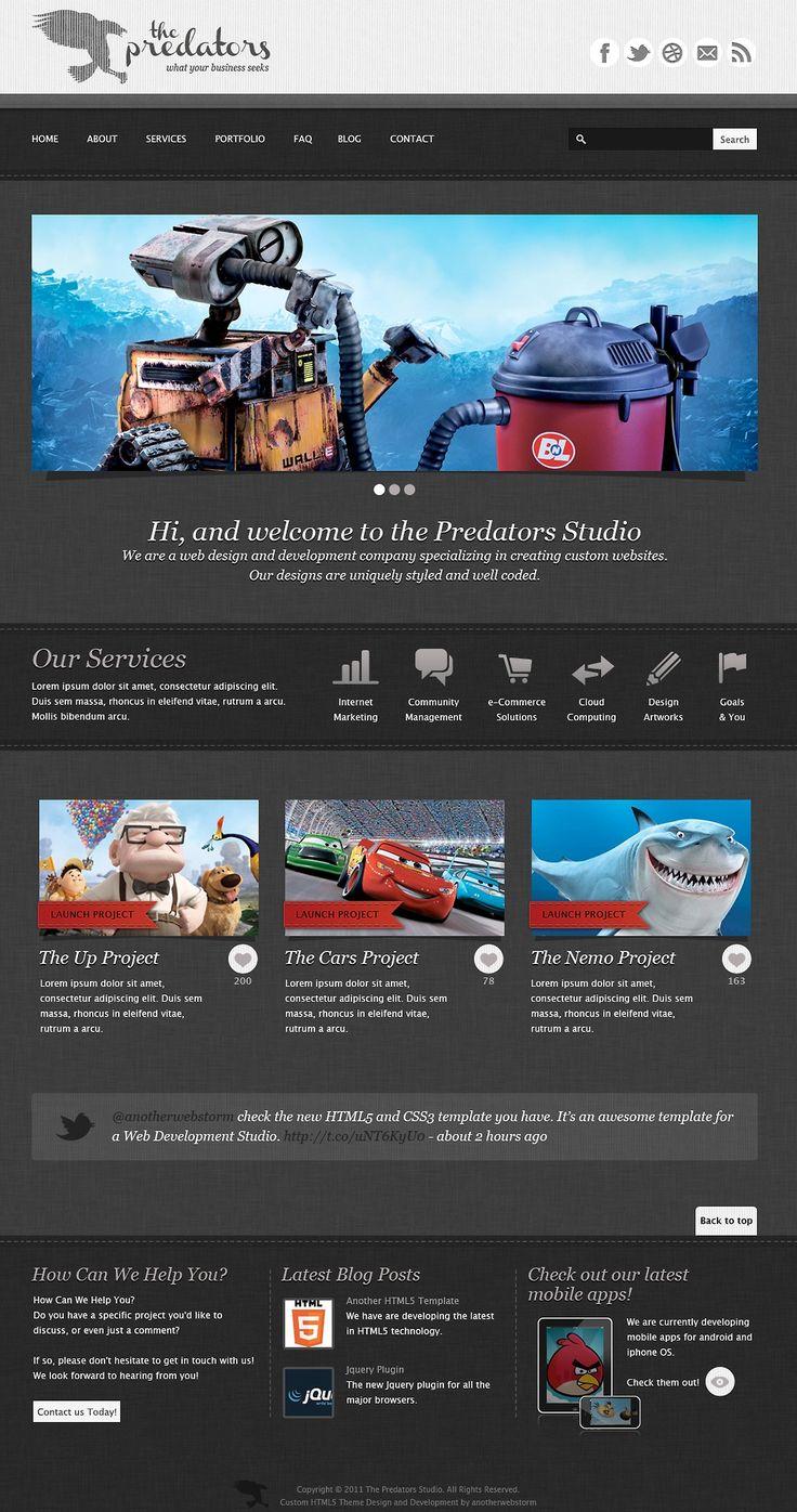 7 best Website inspiration images on Pinterest | Psd templates ...