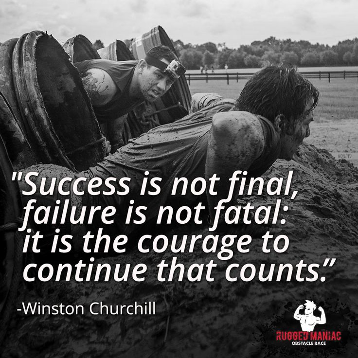 Failure is never final Never give up! Make sure you check out our Rugged Maniac page for discounts and reviews http://www.mudrunguide.com/organizers/rugged-maniac/  #inspiration #GetMotivated