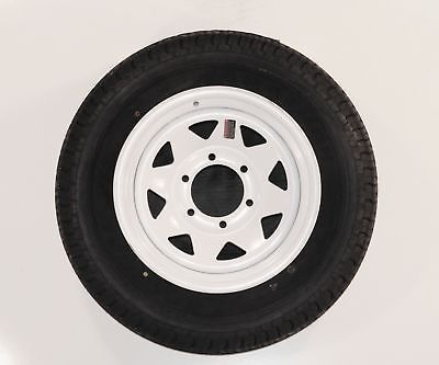 2-Pack Goodyear Marathon Trailer Tires ST235/80R16 Load E 6 Lug White White Rim