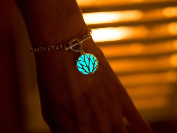 Circle of Nature Bracelet  Glowing Bracelet  Silver by EpicGlows