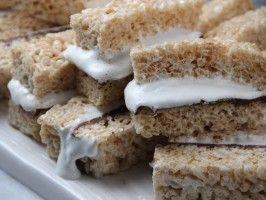 Chocolate-Hazelnut Crispy Rice Bars from CookingChannelTV.com via Tia Mowry at Home