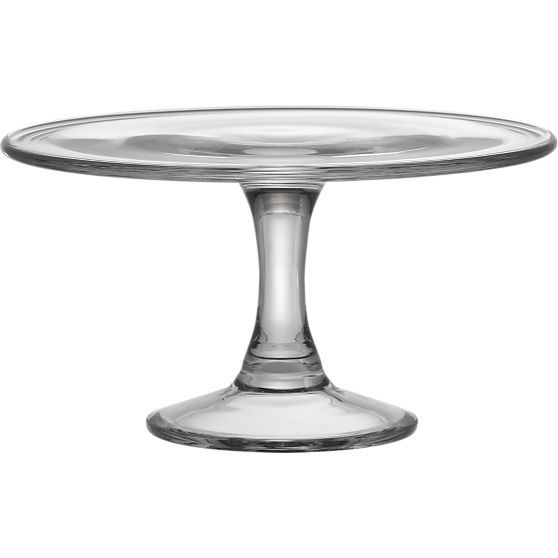 Classic pedestal in handmade glass makes a beautiful presentation of desserts, finger foods, cheeses and confections.