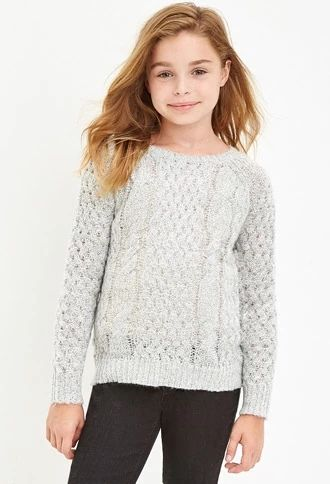 Girls Cable Knit Sweater (Kids) | Forever 21 girls | #forever21kids