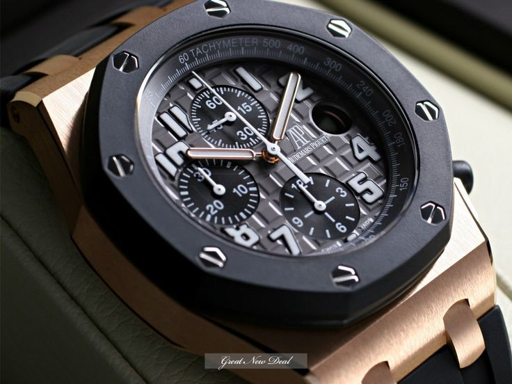 Rubber is now becoming a trend in the world of luxury watches and no other timepieces state the case more obviously than the Audemars Piguet Royal Oak Offshore Rubber Clad. Aside from the very modern and chic rubber strap, this particular chronograph boasts a casing fashioned from 18k rose gold. But more than fashion, this watch features a three-dial system that tells seconds, minutes and hours with unparalleled accuracy due to its automatic mechanism inside.