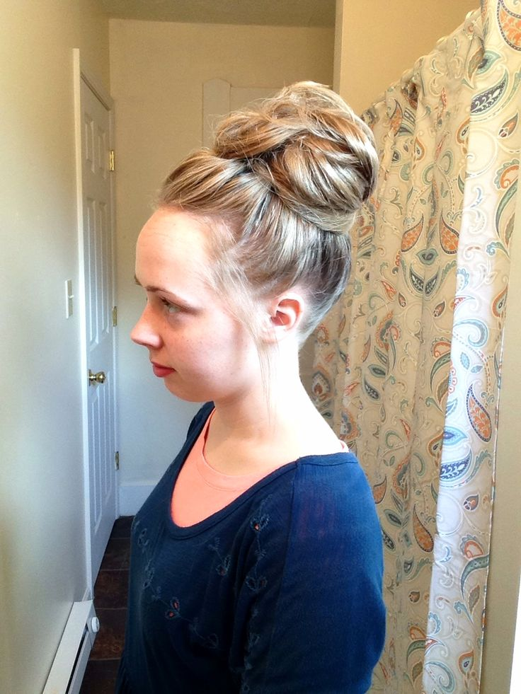 Quick and easy messy bun for ladies with long hair!