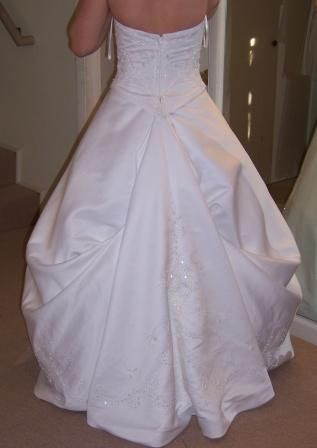 How to Do for a Wedding Dress Bustles | You Get Another Bonus From A Wedding Dress Bustle, Too...a Slightly ...