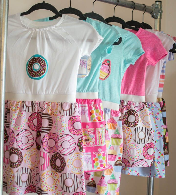 Boutique T-Shirt Dresses - so cute and a little bit retro {free tutorial} — SewCanShe | Free Daily Sewing Tutorials