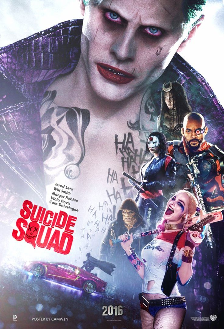 The Suicide Squad poster byCAMW1N