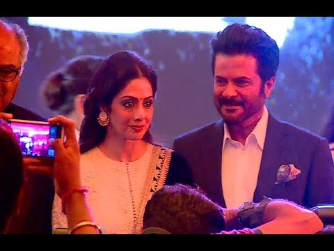 Anil Kapoor, Sridevi & Boney Kapoor at music launch of film MIRZYA.