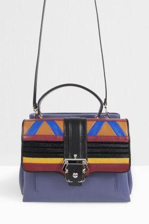 PAULA CADEMARTORI Leather Patchwork Chain Bag. #paulacademartori #bags #shoulder bags #leather #