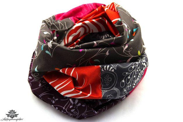 Loop Schal braun orange grau aus der Lieblingsmanufaktur - ein toller Schal für den Herbsttyp