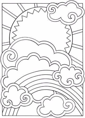 imagenes de nubes para colorear animadas
