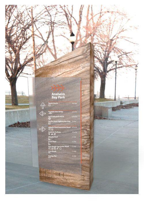 Anaheim Bay Park - Totem Signage System -by Emily Rinehart, via Behance