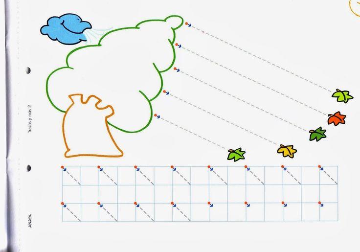 Schrijfpatroon herfst voor kleuters, free printable