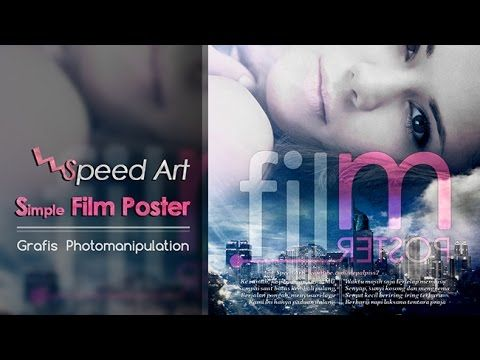 [Speed Art] Membuat Poster Film Simple di PS || Ekperimen dengan #sppedart video tutorial #photoshop | #belajarPhotoshop #editfoto