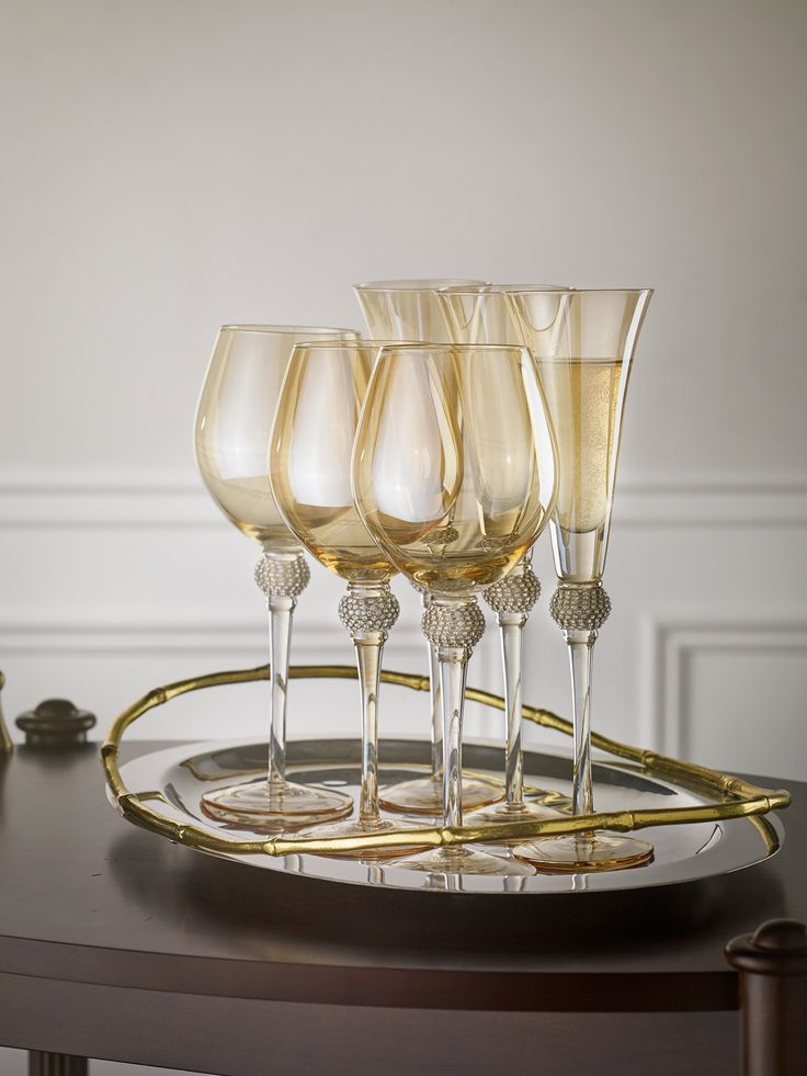 Bombay Tabletop Accessories | Luster Celebrations Wine Glass & Champagne Flute