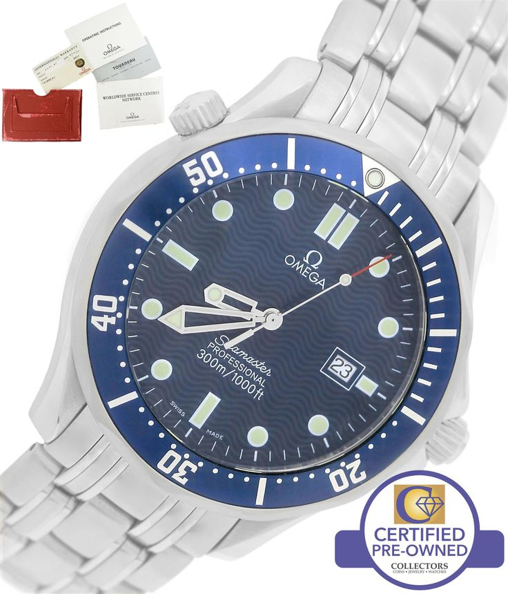 MINT Omega Seamaster Professional 300M 2541.80 Blue Wave Quartz 41mm Watch