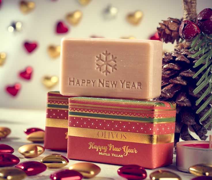 Wonderful Christmas - New Year   present from Olivos Soaps ❤️ Happy New Year soap.