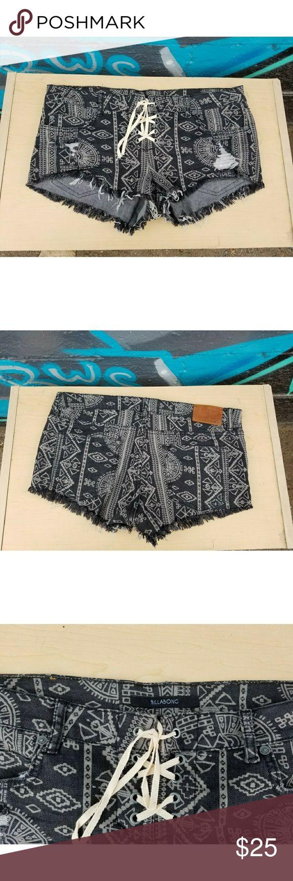 Billabong Tribal Shorts Super cute shorts. Billabong Shorts Jean Shorts