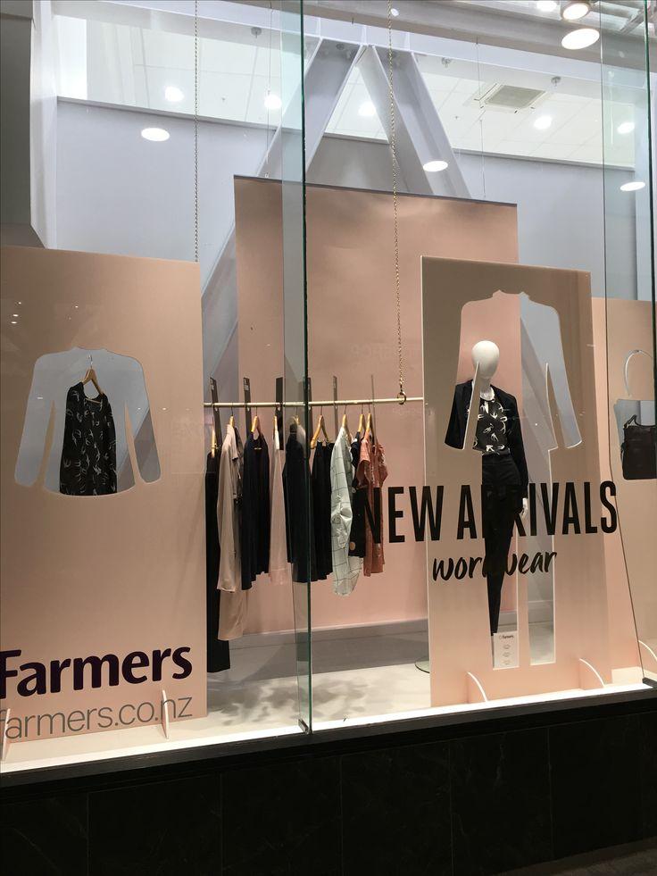 """FARMERS DEPARTMENT STORE, Queen Street, Auckland CBD, New Zealand, """"New Seasons-Workwear"""", uploaded by Ton van der Veer"""
