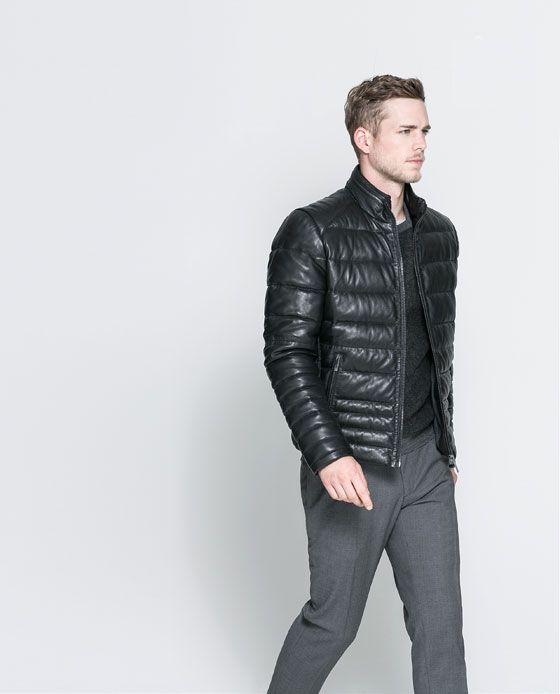 Zara mens leather jackets
