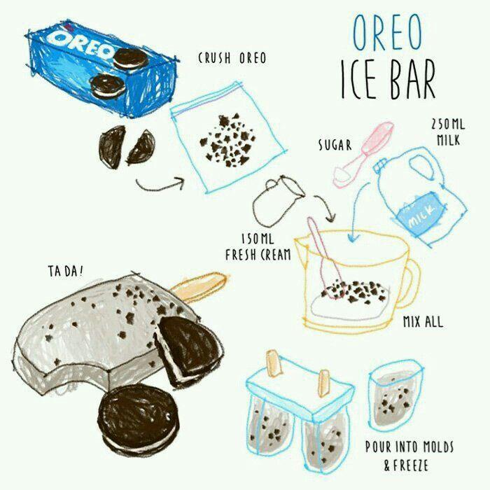 oreo ice bar illustrated recipe